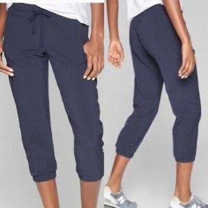 ATHLETA La Viva Navy Blue Capris Joggers Pants 0